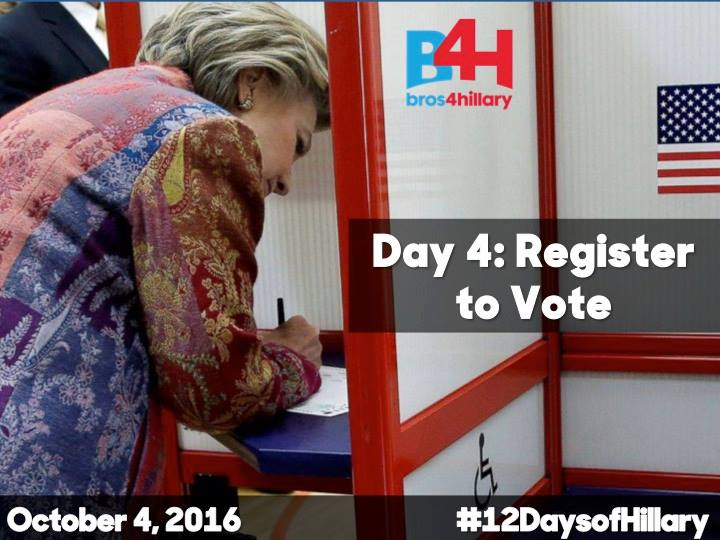 On the 4th Day of Hillary: Register to Vote