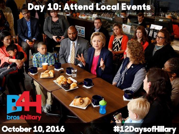 On the 10th Day of Hillary: Attend Local Events