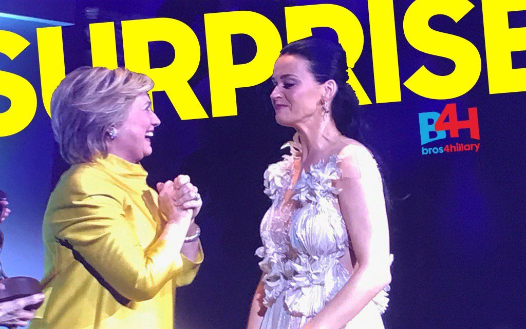 Hillary Clinton moves Katy Perry to tears with surprise appearance