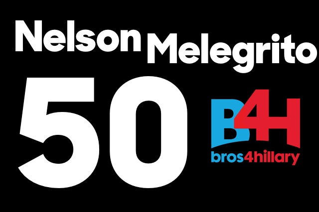 Happy 50th Birthday to Bros4Hillary Founder Nelson Melegrito!
