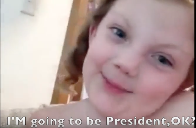 4-Year-Old Delainy Has a Special Message for Hillary