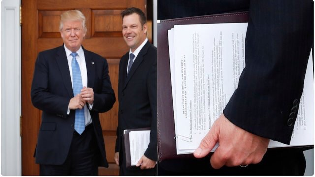 Can't Write This Stuff: Trump cabinet hopeful accidentally flashes Homeland Security info to the world