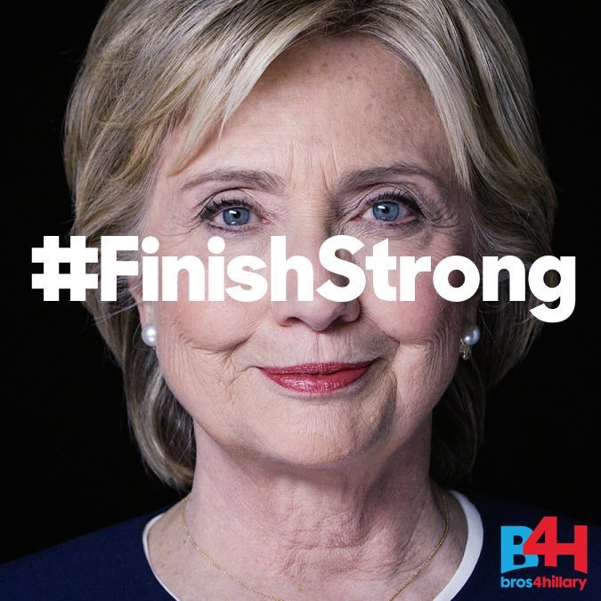 Bros4Hillary announces #FinishStrong Call Challenge