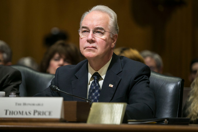 Senate Votes to Confirm Rep. Tom Price (R-GA) to Head of Department of Health & Human Services