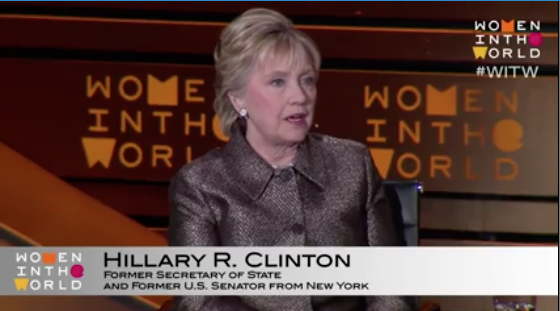 Hillary Clinton's Compelling Full Interview at Women of the World Summit [VIDEO]