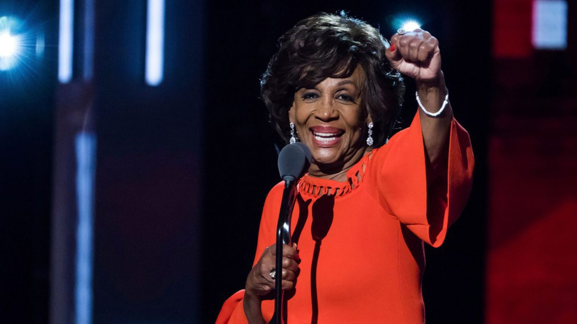 Congresswoman Maxine Waters in an interview for the Bros4America podcast Alex Mohajer